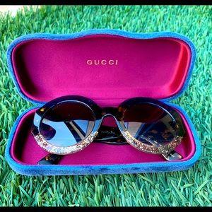 ⚡️Gucci⚡️Round Gold Glitter/ Tortoise/ Sunglasses
